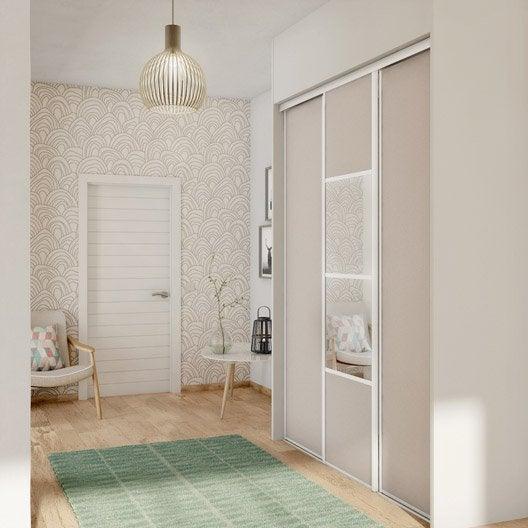 Porte de placard coulissante s same spaceo x cm for Reglage porte placard