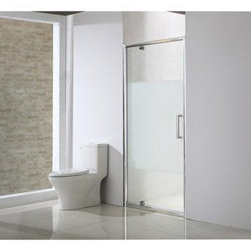 Porte de douche pivotante 90 cm, sérigraphié, Quad