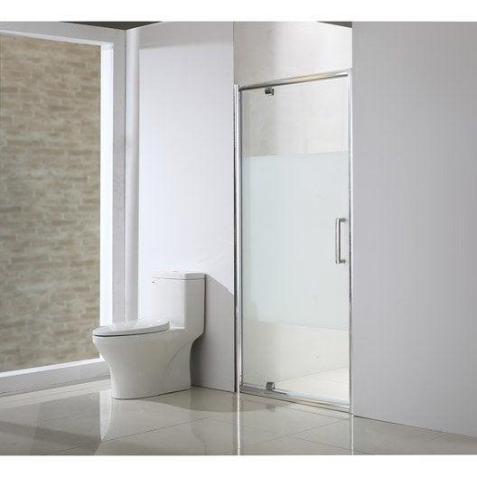 Porte de douche pivotante 97 5 100 5 cm profil chrom - Portes de douche coulissantes ...
