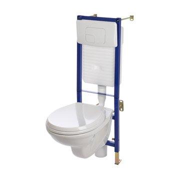 wc suspendu - wc, abattant et lave-mains - toilette | leroy merlin