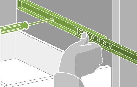 comment remplacer une coulisse pour tiroir leroy merlin. Black Bedroom Furniture Sets. Home Design Ideas
