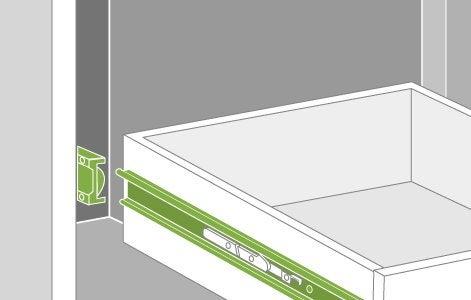 Comment remplacer une coulisse pour tiroir leroy merlin - Comment fixer un plan de travail sans meuble ...