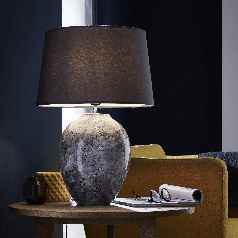 lampe e27 vimeiro coton gris 60 w leroy merlin. Black Bedroom Furniture Sets. Home Design Ideas
