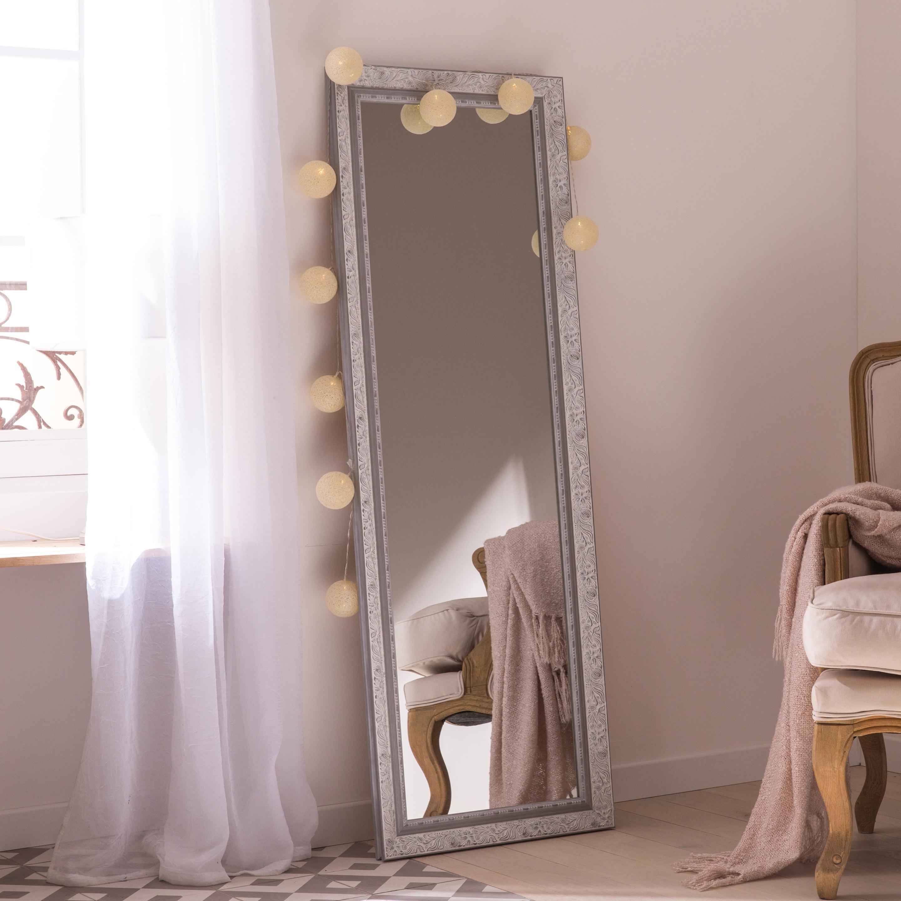 Miroir rectangulaire Louise, blanc, l.52.2 x H.152.2 cm