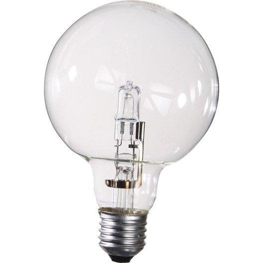 ampoule globe halog ne 46w 702lm quiv 60w e27 2750k lexman leroy merlin. Black Bedroom Furniture Sets. Home Design Ideas