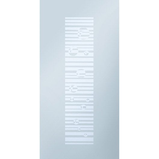 Porte coulissante verre tremp transparent eclisse 211 x - Porte coulissante recoupable ...