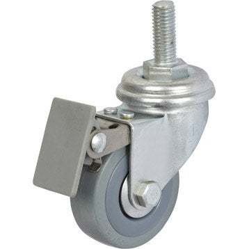 Pied de meuble roue et roulette quincaillerie du meuble - Roulette pour meuble avec frein ...