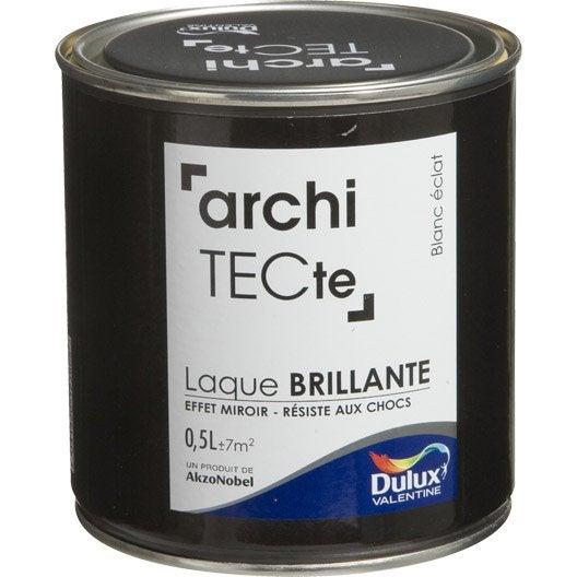peinture boiserie architecte dulux valentine blanc clat 0 5 l leroy merlin. Black Bedroom Furniture Sets. Home Design Ideas