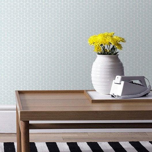 papier peint vinyle expans sur intiss nelio bleu larg. Black Bedroom Furniture Sets. Home Design Ideas