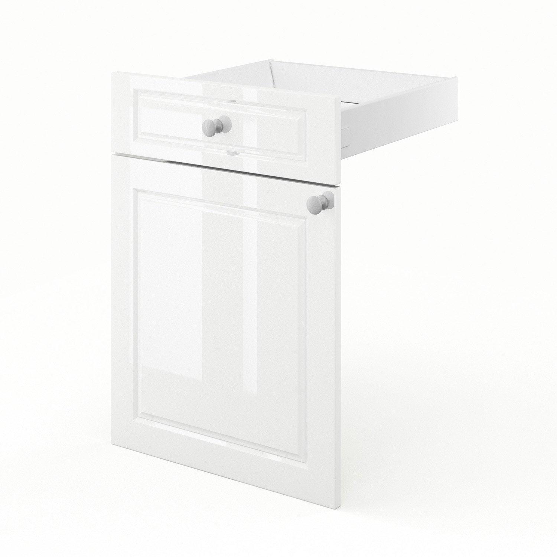 porte et tiroir de cuisine blanc chelsea x x cm leroy merlin. Black Bedroom Furniture Sets. Home Design Ideas