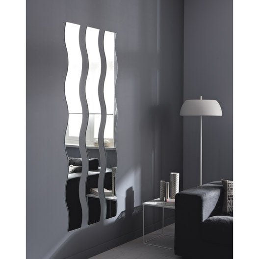 miroir non lumineux d coup vague x cm vague. Black Bedroom Furniture Sets. Home Design Ideas