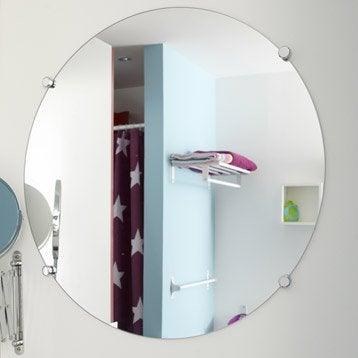 Miroir non lumineux découpé rond l.60 x L.60 cm Poli