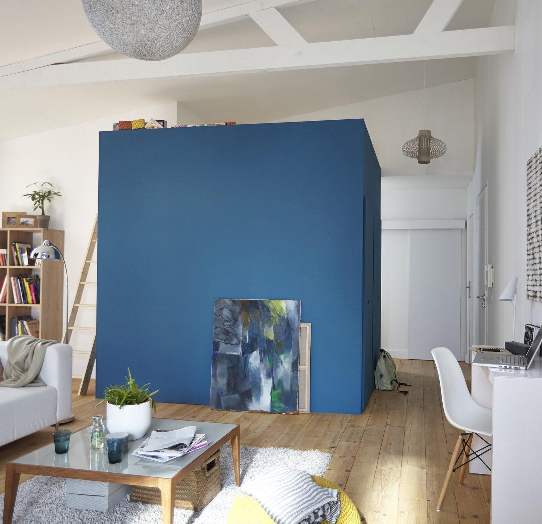 Une mezzanine chambre dans le salon leroy merlin for Chambre dans salon