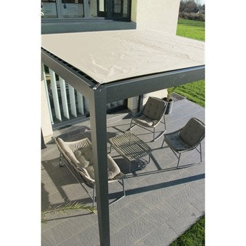 Pergola autoportante aluminium gris anthracite 9 m²