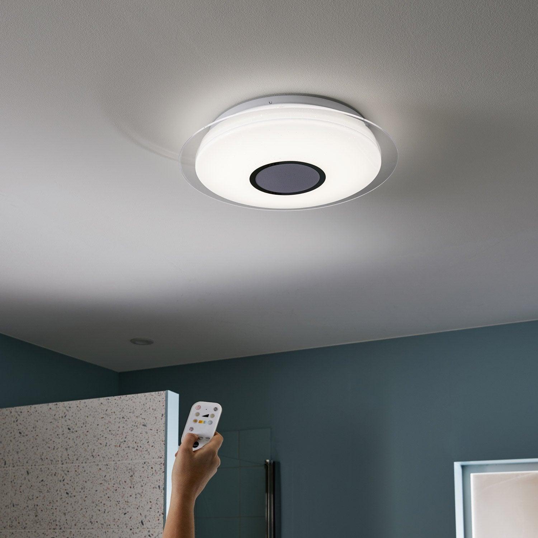 Plafonnier, design plastique blanc led intégrée INSPIRE Vizzini D.40 cm