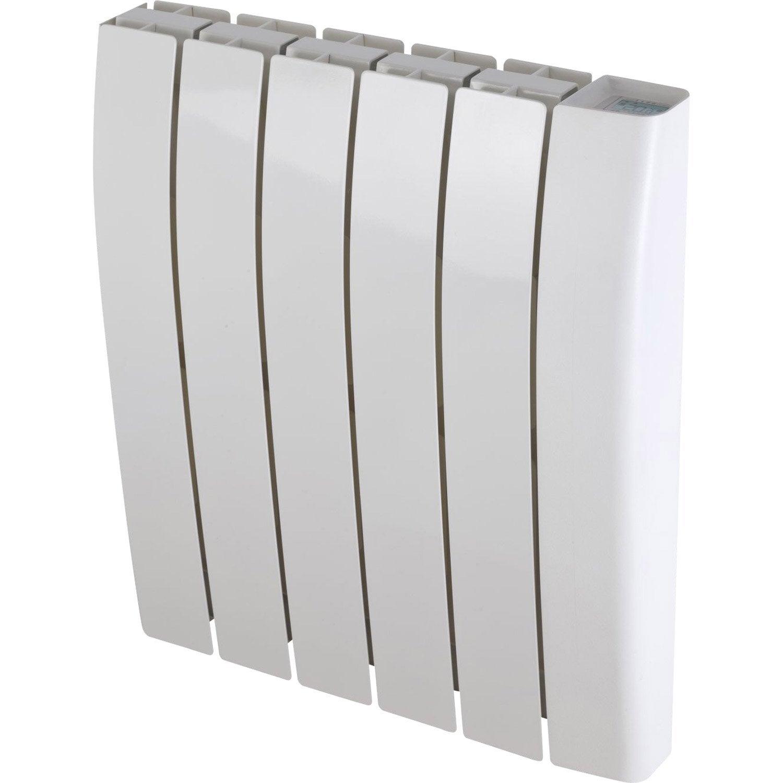 radiateur lectrique inertie pierre deltacalor sagoma 1000 w leroy merlin. Black Bedroom Furniture Sets. Home Design Ideas
