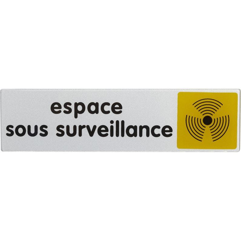 Plaque Espace Sous Surveillance En Plexiglass