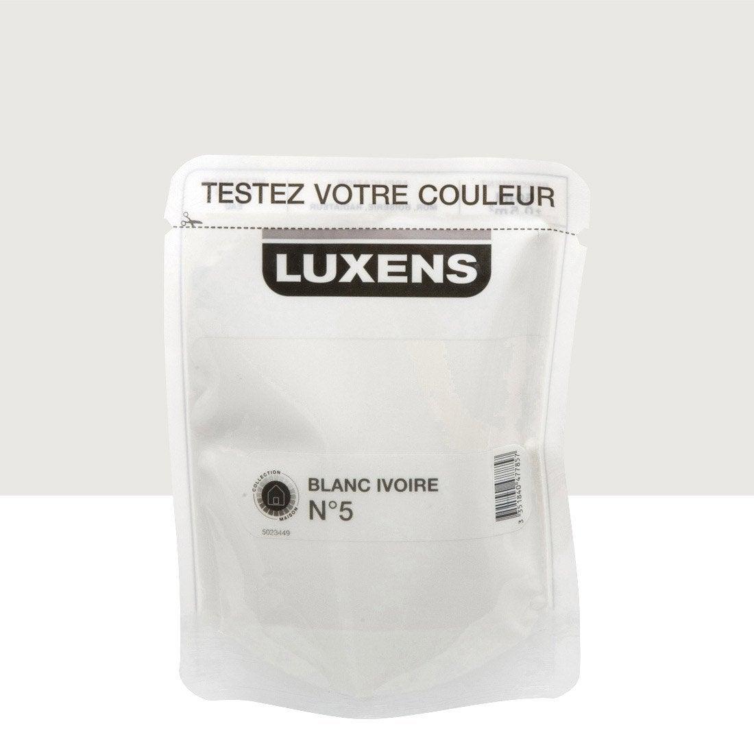 Testeur peinture blanc ivoire 5 luxens couleurs int rieures satin l leroy merlin - Blanc comme l ivoire ...