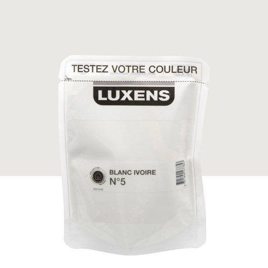 Testeur peinture blanc ivoire 5 luxens couleurs int rieures satin l le - Peinture blanc ivoire ...
