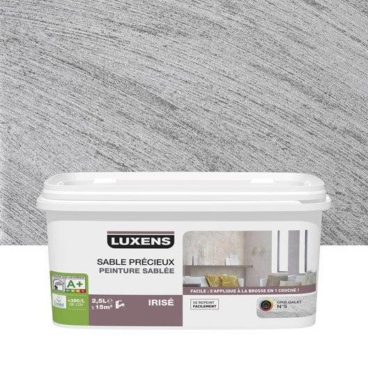Peinture effet sable pr cieux luxens gris galet 5 2 5 - Peinture a effet gris ...