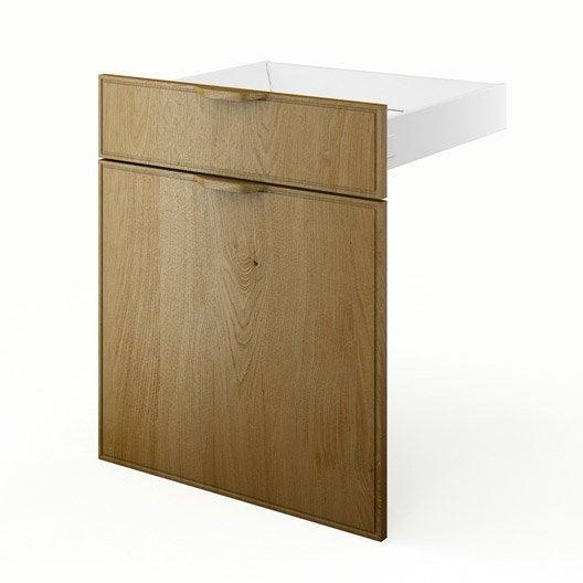 Porte tiroir de cuisine ch ne fd60 origine l60 x h70 x for Porte cuisine chene