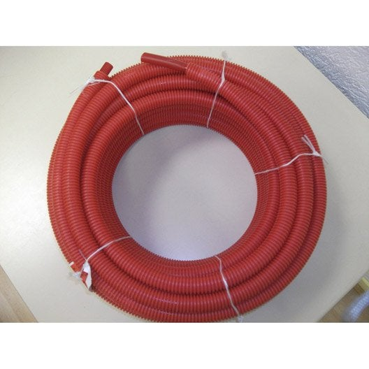 tube d 39 alimentation gain per 13x16 mm rouge couronne de 25 m leroy merlin. Black Bedroom Furniture Sets. Home Design Ideas