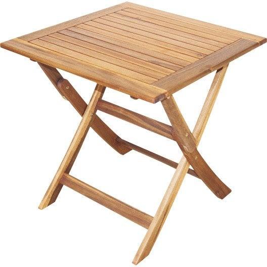 table de jardin naterial porto carre miel with table pliante leroy merlin - Table Pliante De Jardin Leroy Merlin
