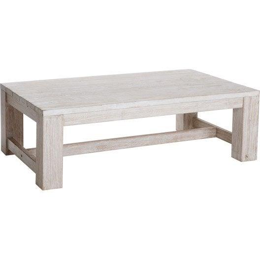 table basse vintage rectangulaire blanchi 4 personnes leroy merlin. Black Bedroom Furniture Sets. Home Design Ideas