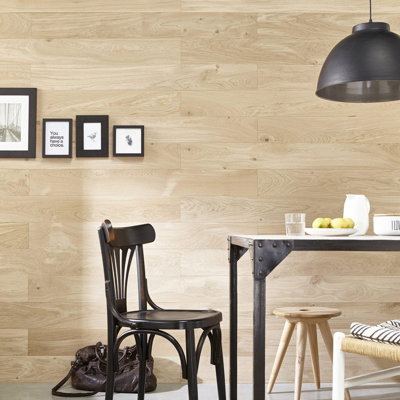 Poser Du Lambris Dans Les Combles tout lambris adhésif chêne brut stickwood, l.119 x l.13.8 cm, ep.2.5 mm