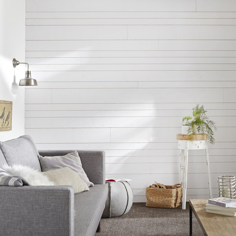 lambris sapin bross blanc x cm mm leroy merlin. Black Bedroom Furniture Sets. Home Design Ideas