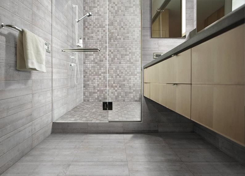 Salle de bains le sol s 39 amuse for Coller carrelage avec ciment