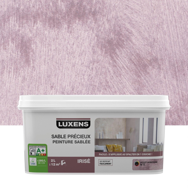 Peinture Violet peinture à effet, sable précieux luxens, violet aubergine 5, 2 l