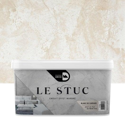 Peinture effet le stuc maison deco blanc de carrare 5 for Decoration peinture blanc casse la rochelle
