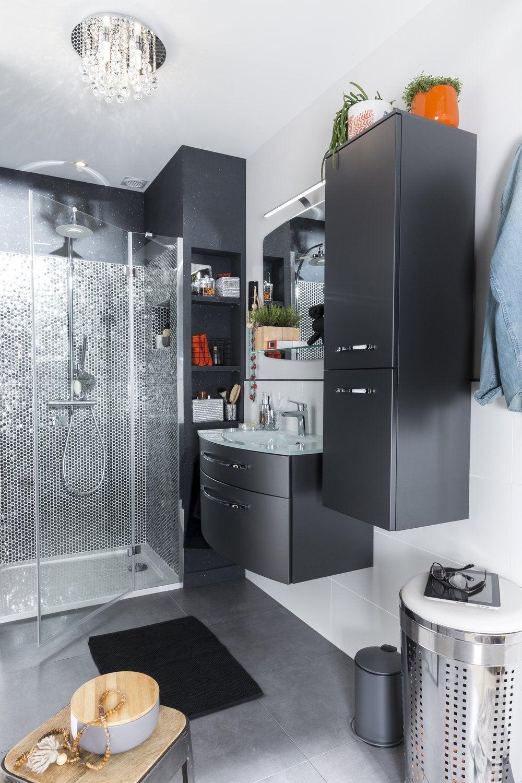 Ma salle de bains en rose et noir leroy merlin - Ma salle de bains ...
