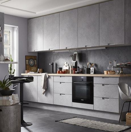 Un effet béton pour vos meubles de cuisine