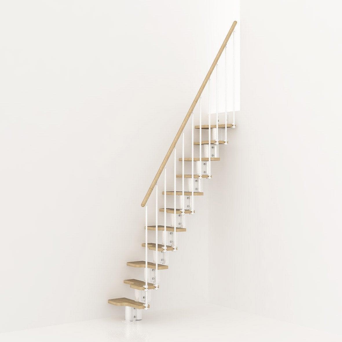 Garde-corps pour escalier Mini blanc en bois clair PIXIMA | Leroy Merlin