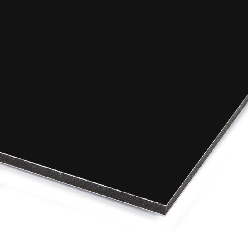 Plaque Pvc Expansé Polyéthylène Noir Lisse L200 X L100 Cm Ep3 Mm