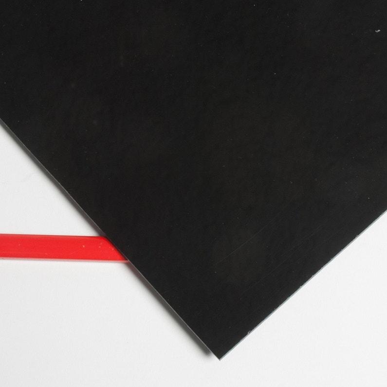 Plaque Acrylique Acrylique Noir Opaque L100 X L60 Cm Ep3 Mm