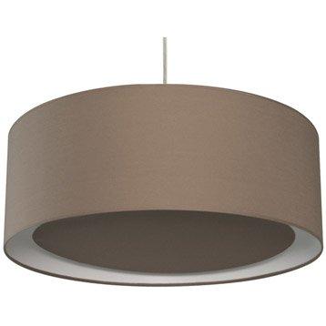 Suspension Contemporain Essentiel coton brun taupe n°3 1 x 60 W INSPIRE