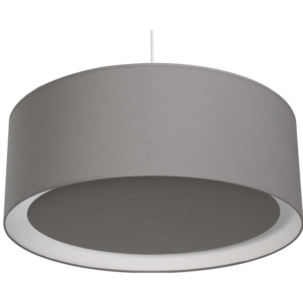 suspension e27 moderne essentiel coton gris galet n 3 1 x 60 w inspire leroy merlin. Black Bedroom Furniture Sets. Home Design Ideas