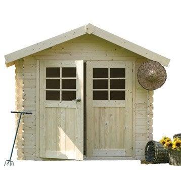 Abri de jardin en bois Ormes, 7.5 m², ép. 28 mm