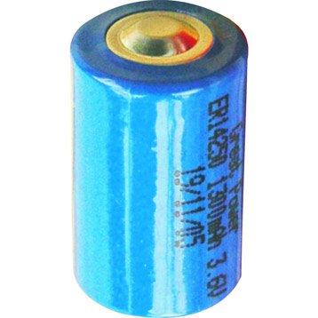 Pile lithium 3,6V bleu pour alarme maison