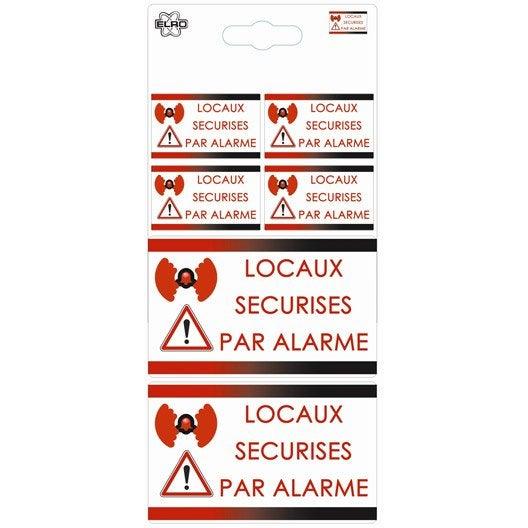 Autocollants surveillance alarme eden leroy merlin - Alarme diagral leroy merlin ...