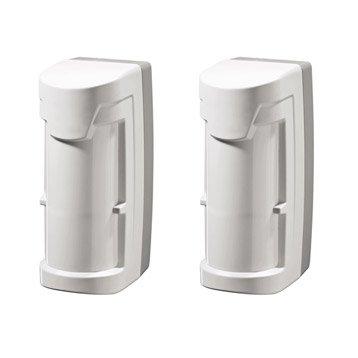 Lot 2 détecteurs extérieur compatible animaux pour alarme maison DIAGRAL blanc
