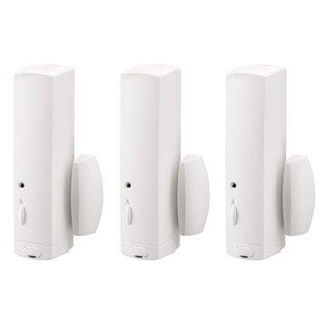 Lot 3 détecteurs d'ouverture pour alarme maison DIAGRAL blanc