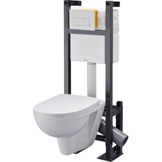 pack wc suspendu b ti universel club design 4 pieds leroy merlin. Black Bedroom Furniture Sets. Home Design Ideas