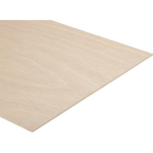 panneau contreplaqu okoum ext rieur ep 5 mm x x cm leroy merlin. Black Bedroom Furniture Sets. Home Design Ideas