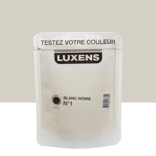 Testeur peinture blanc ivoire 1 luxens couleurs int rieures satin l leroy merlin - Blanc comme l ivoire ...