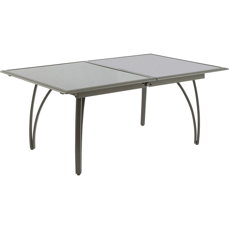 Table de jardin rectangulaire brun / marron 10 personnes | Leroy Merlin