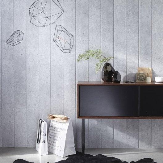 lambris mdf rev tu b ton clair x cm ep 8 mm leroy merlin. Black Bedroom Furniture Sets. Home Design Ideas